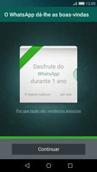 Huawei P8 Lite - Aplicações - Como configurar o WhatsApp -  10