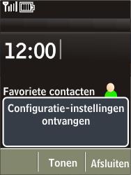 Nokia X3-02 - Internet - automatisch instellen - Stap 4