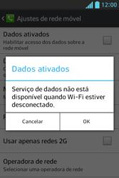 LG E612 Optimus L5 - Rede móvel - Como ativar e desativar uma rede de dados - Etapa 7