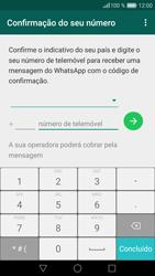 Huawei P9 Lite - Aplicações - Como configurar o WhatsApp -  7
