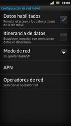 Sony Xperia U - Red - Seleccionar el tipo de red - Paso 6