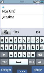 Samsung Wave 723 - Contact, Appels, SMS/MMS - Envoyer un SMS - Étape 10