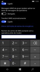 Microsoft Lumia 550 - SMS - Como configurar o centro de mensagens -  8