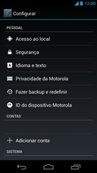 Motorola Moto X - Funções básicas - Como restaurar as configurações originais do seu aparelho - Etapa 4