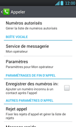 LG P700 Optimus L7 - Messagerie vocale - configuration manuelle - Étape 6