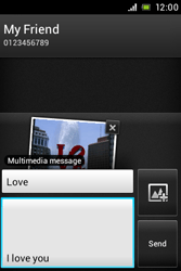 Sony ST23i Xperia Miro - Mms - Sending a picture message - Step 14
