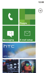 HTC C110e Radar - SMS - Manual configuration - Step 1