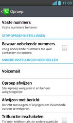 LG E460 Optimus L5 II - Voicemail - handmatig instellen - Stap 6