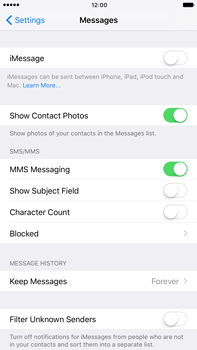 Apple Apple iPhone 6s Plus iOS 10 - iOS features - Send iMessage - Step 4
