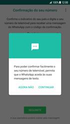 Samsung Galaxy S7 - Android Nougat - Aplicações - Como configurar o WhatsApp -  12