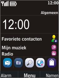 Nokia C2-05 - Voicemail - Handmatig instellen - Stap 1