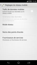 Sony Xpéria T3 - Internet et connexion - Désactiver la connexion Internet - Étape 7
