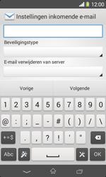 Sony Xperia E1 (D2005) - E-mail - Handmatig instellen - Stap 11