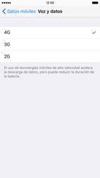 Apple iPhone 6s iOS 9 - Red - Seleccionar el tipo de red - Paso 5
