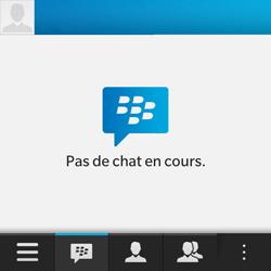 BlackBerry Q10 - Contact, Appels, SMS/MMS - Utiliser la visio - Étape 3