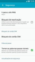Samsung Galaxy S5 - Segurança - Como ativar o código PIN do cartão de telemóvel -  5
