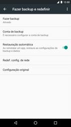LG Google Nexus 5X - Funções básicas - Como restaurar as configurações originais do seu aparelho - Etapa 7