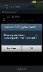 Samsung I8190 Galaxy S III Mini - Bluetooth - koppelen met ander apparaat - Stap 9