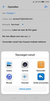 Huawei Mate 10 Pro Dual-SIM (Model BLA-L29) - E-mail - Bericht met attachment versturen - Stap 10