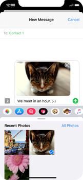 Apple iPhone X - iOS 13 - MMS - Sending a picture message - Step 14
