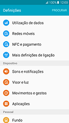 Samsung Galaxy A5 (2016) (A510F) - Internet no telemóvel - Como ativar os dados móveis -  4