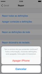 Apple iPhone 5s iOS 9 - Repor definições - Repor definições de fábrica do telemóvel -  8