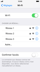 Apple iPhone 5s - iOS 11 - Wifi - configuration manuelle - Étape 4