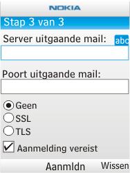 Nokia X2-00 - E-mail - handmatig instellen - Stap 10