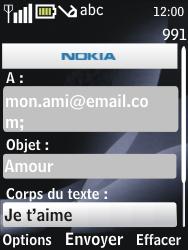 Nokia 2730 classic - E-mail - envoyer un e-mail - Étape 9