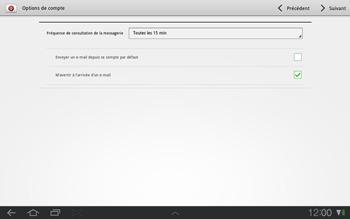 Samsung P7500 Galaxy Tab 10-1 - E-mail - Configurer l