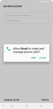 Samsung Galaxy Note9 - E-mail - Manual configuration (outlook) - Step 10