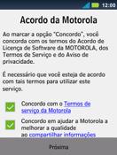 Motorola Master XT605 - Primeiros passos - Como ativar seu aparelho - Etapa 9