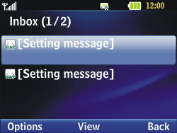 LG C320 InTouch Lady - Settings - Configuration message received - Step 4