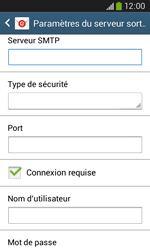 Samsung S7275 Galaxy Ace III - E-mail - Configuration manuelle - Étape 12