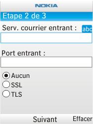 Nokia X2-00 - E-mail - Configuration manuelle - Étape 9