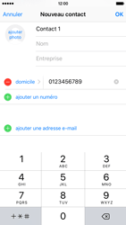 Apple iPhone 6s - Contact, Appels, SMS/MMS - Ajouter un contact - Étape 9