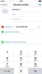 Apple iPhone 6s - Contact, Appels, SMS/MMS - Ajouter un contact - Étape 9