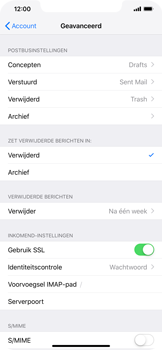Apple iPhone XR - E-mail - Account instellen (IMAP zonder SMTP-verificatie) - Stap 24