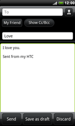 HTC S510e Desire S - E-mail - Sending emails - Step 8
