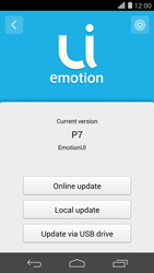 Huawei Ascend P7 - Network - Installing software updates - Step 7