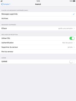 Apple iPad Pro 9.7 - iOS 11 - E-mail - Configuration manuelle - Étape 22