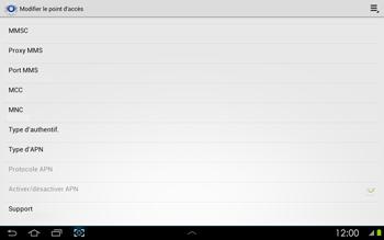 Samsung P5100 Galaxy Tab 2 10-1 - MMS - configuration manuelle - Étape 12