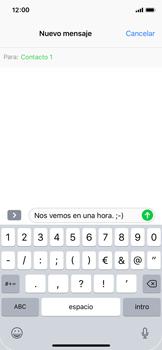 Apple iPhone X - Mensajería - Escribir y enviar un mensaje multimedia - Paso 8