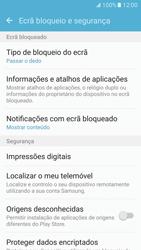 Samsung Galaxy S7 - Segurança - Como ativar o código de bloqueio do ecrã -  5