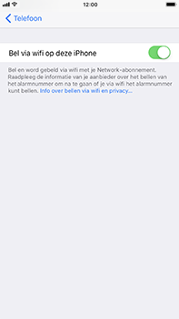 Apple iPhone 6 Plus - iOS 11 - Bellen - Bellen via wifi (VoWifi) - Stap 7