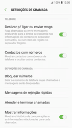 Samsung Galaxy S7 - Android Nougat - Chamadas - Como bloquear chamadas de um número -  6
