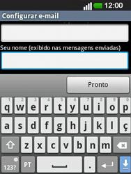 LG E400 - Email - Configurar a conta de Email -  25