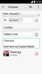 Huawei Ascend Y330 - E-mail - Sending emails - Step 14