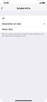 Apple iPhone X - iOS 12 - Bellen - bellen via 4G (VoLTE) - Stap 7