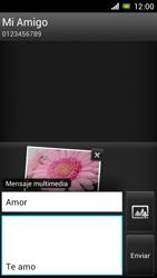 Sony Xperia J - Mensajería - Escribir y enviar un mensaje multimedia - Paso 16